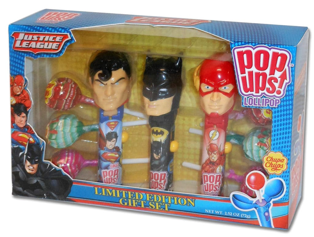 Justice League Pop Ups Gift Set, Justice League 3 Pack Gift Set